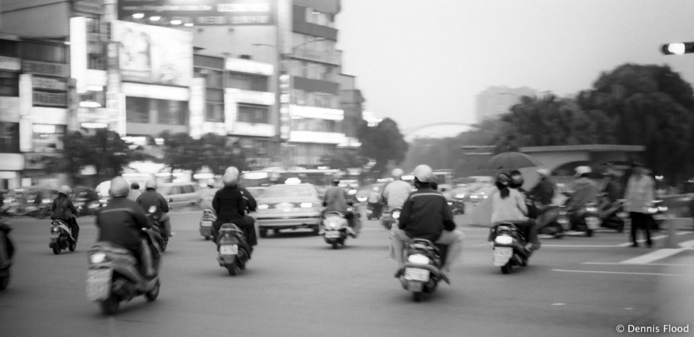 Heavy Scooter Traffic