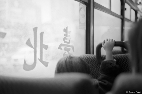Child on a Bus in Taipei