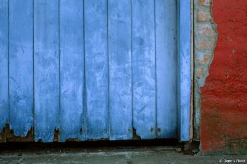 Faded Blue Door