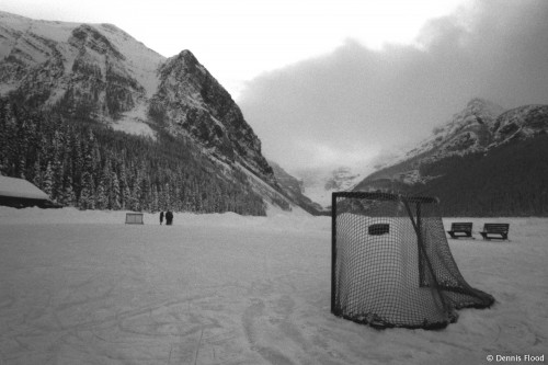 Hockey Rink on Lake Louise