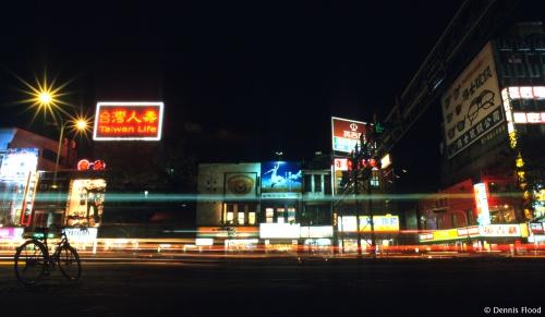 Taiwan Street Scene at Night