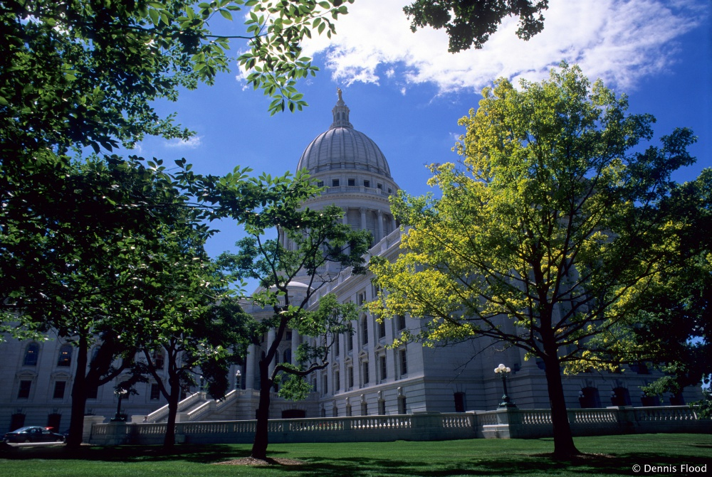 Wisconsin State Capitol Building in Summer