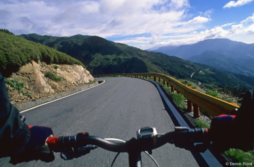 Riding Through Taroko Gorge