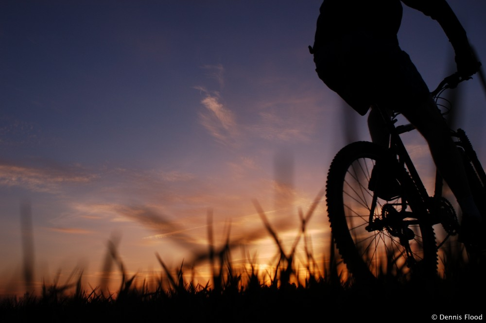 Mountain Biker at Sunset