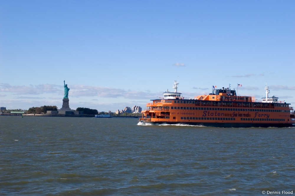 Statue of Liberty and Staten Island Ferry