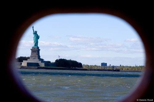Statue of Liberty Through View Hole