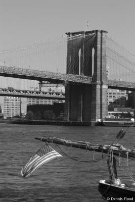 Daylight View of Brooklyn Bridge
