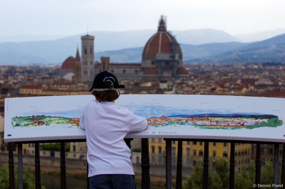 Boy Overlooking Florence, Italy