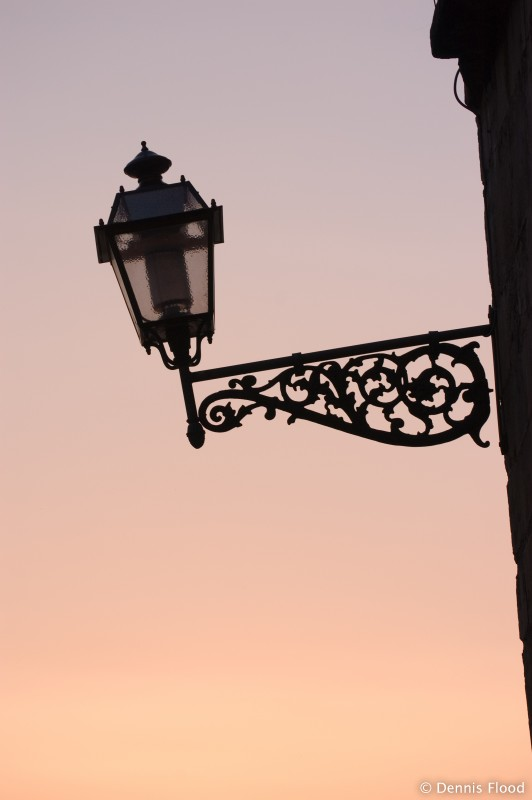 Bridge Lamp at Sunset