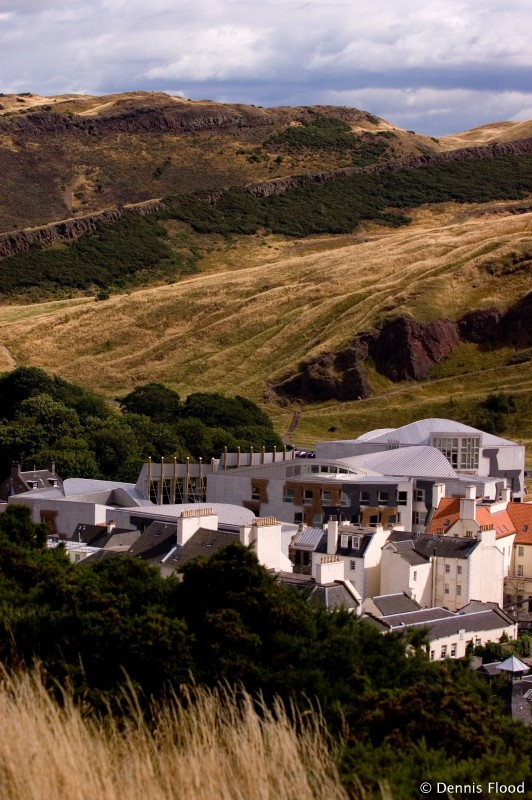 Scottish Parliament from Calton Hill
