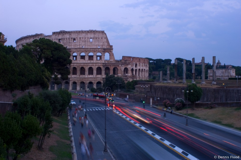 Traffic Near the Colosseum
