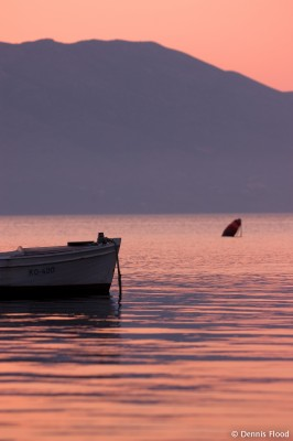 Wooden Boat at Sunrise