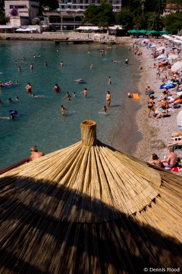 Crowded Copacabana Beach