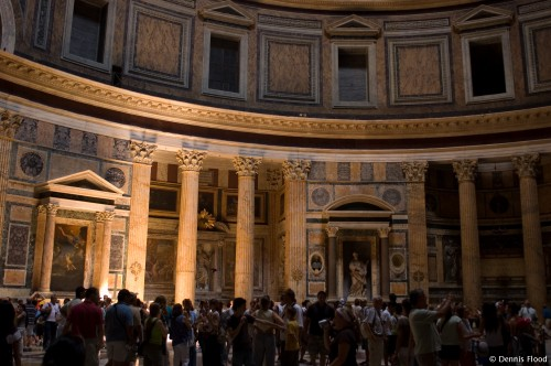 Crowded Pantheon Interior