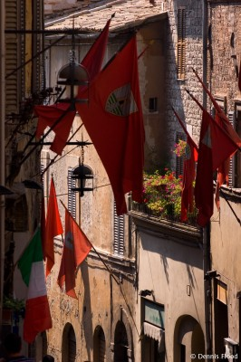 Flags in Assisi
