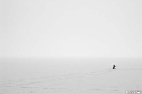 Ice Fishing in a Storm
