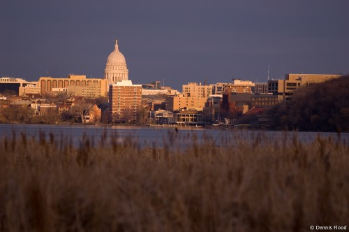 Madison Skyline at Sunset