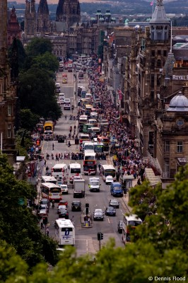 Crowded Princes Street