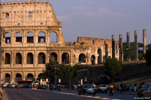 Rushhour Traffic on Piazza del Colosseo