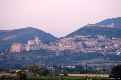View of Assisi at Dusk