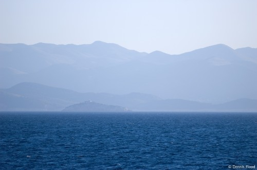 View of Croatian Mountains from Adriatic Sea