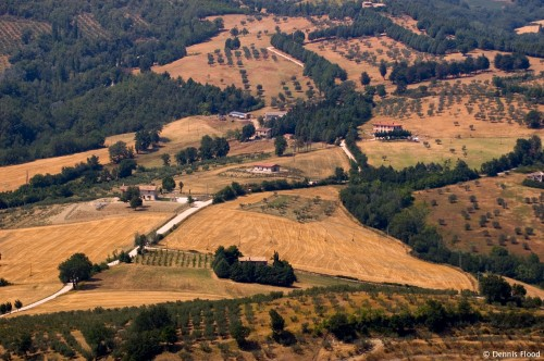 View of Perugia Countryside Near Assisi
