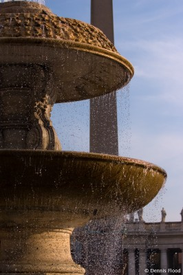 Water Fountain in St. Peter's Square
