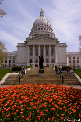 Wisconsin State Capitol Building in Spring