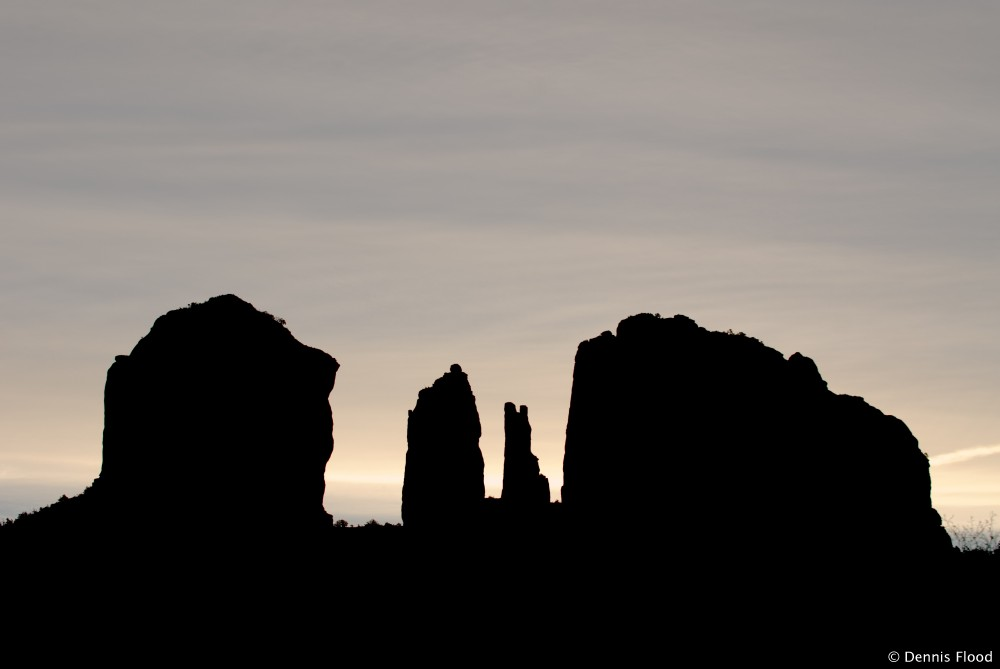 wedding archived cathedral rock silhouette 7737 Dennis Flood