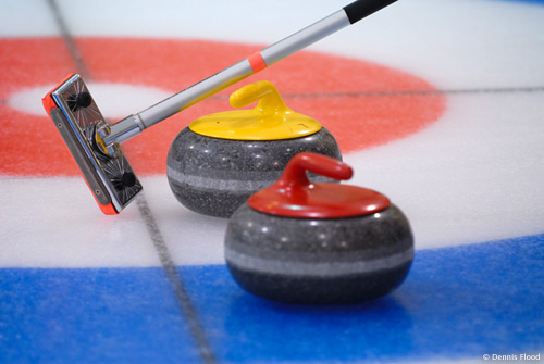 Curling Rocks and Broom
