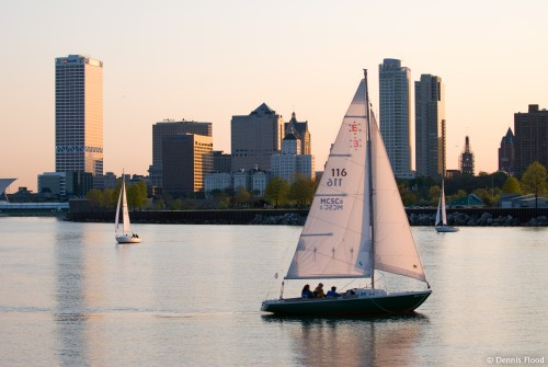 Sailboats in Milwaukee