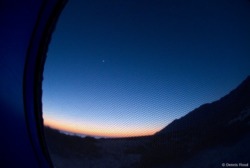 Sunrise in a Tent