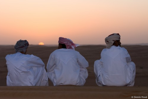 Three Omani Men at Sunset