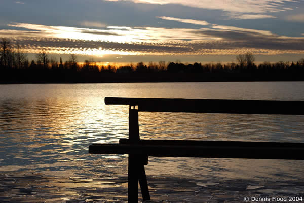 Picnic Table on the Lake | December 5, 2004 | Dennis Flood Photography